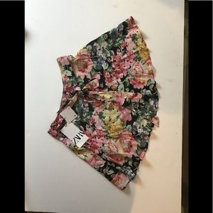 Zara Floral Mini Skirt Size XS